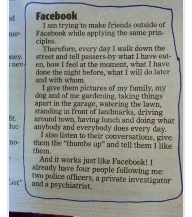 Real Life Facebook