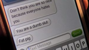 Nasty messages on mobile phone