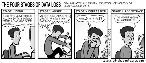 four stages of data loss